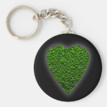 Corazón verde. Diseño modelado del corazón Llavero