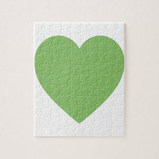 Corazón verde grande puzzle