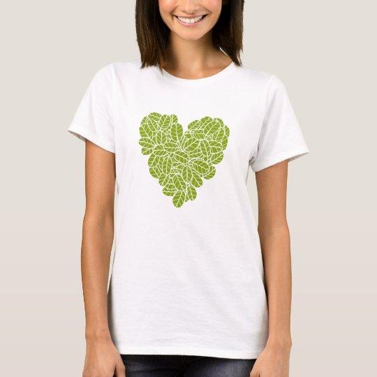 Corazón verde playera