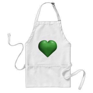 Corazón verde - tarjeta del día de San Valentín -  Delantal