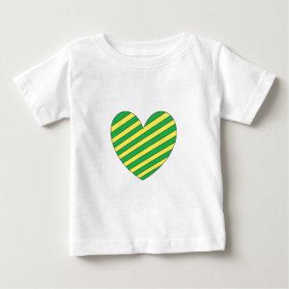 Corazón verde y amarillo poleras