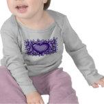 Corazón violeta camisetas