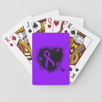 Corazón violeta del Grunge de la cinta Baraja De Póquer