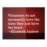 Corazón voluntario postales