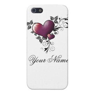 corazón w/name del tatuaje iPhone 5 carcasa