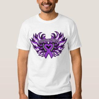 Corazón Wings.png de la conciencia de la epilepsia Playeras