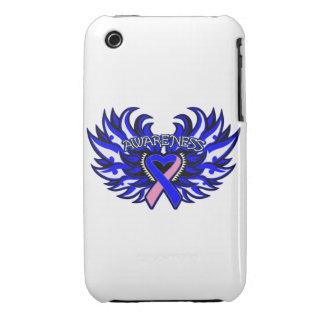 Corazón Wings.png de la conciencia de SIDS iPhone 3 Case-Mate Carcasas