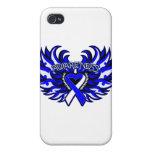 Corazón Wings.png de la conciencia del ALS iPhone 4/4S Carcasa