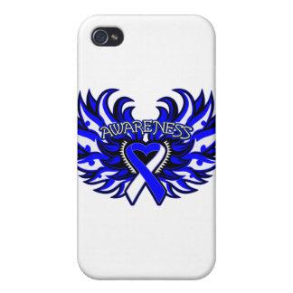 Corazón Wings.png de la conciencia del ALS iPhone 4 Carcasas