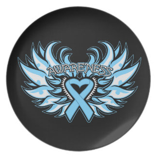 Corazón Wings.png de la conciencia del cáncer de p Platos