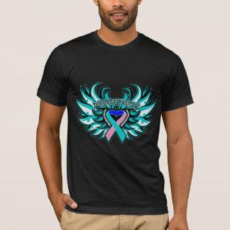 Corazón Wings.png de la conciencia del cáncer de Playera