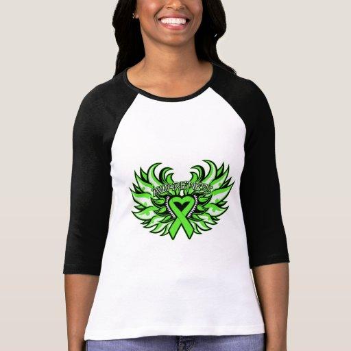 Corazón Wings.png de la conciencia del linfoma T-shirt