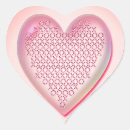 CORAZÓN XXX y OOO de SHARON SHARPE Pegatina En Forma De Corazón