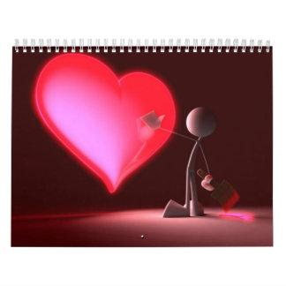 Corazón y alma calendario de pared