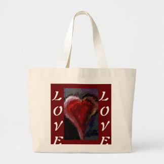 Corazón y amor enrrollados - la bolsa de asas romá