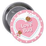 Corazón y amor rosados BugsValentine Pin