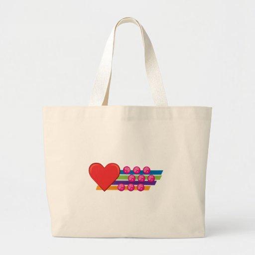 Corazón y botones bolsas