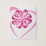 Corazón y cinta puzzle con fotos