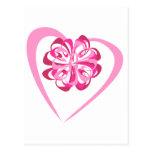 Corazón y cinta tarjeta postal