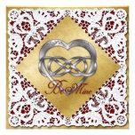 Corazón y cordón dobles 2 de la plata del infinito
