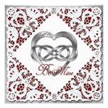 Corazón y cordón dobles de la plata del infinito