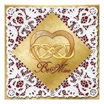 Corazón y cordón dobles del oro del infinito