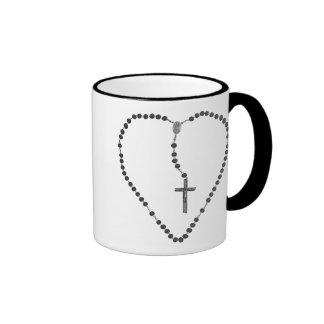 Corazón-y-Cruz Tazas De Café