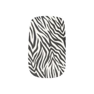 @ corazón y estampado de zebra salvajes pegatina para manicura