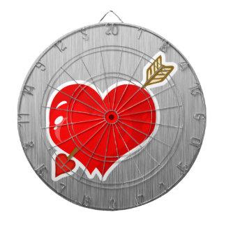 Corazón y flecha del Cupid; Metal-mirada Tabla Dardos