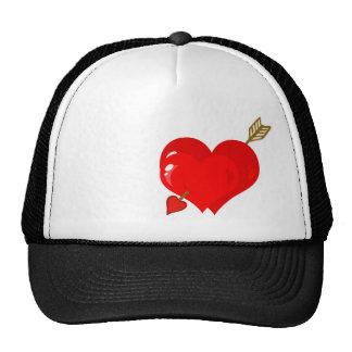 Corazón y flecha del Cupid; Rugoso Gorro De Camionero
