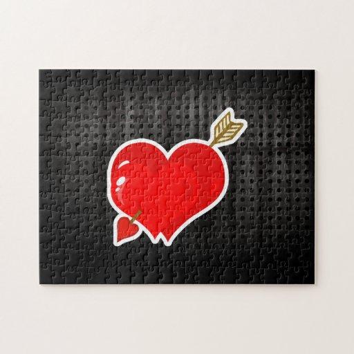 Corazón y flecha del Cupid; Rugoso Puzzles