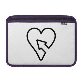 Corazón y flecha fundas para macbook air