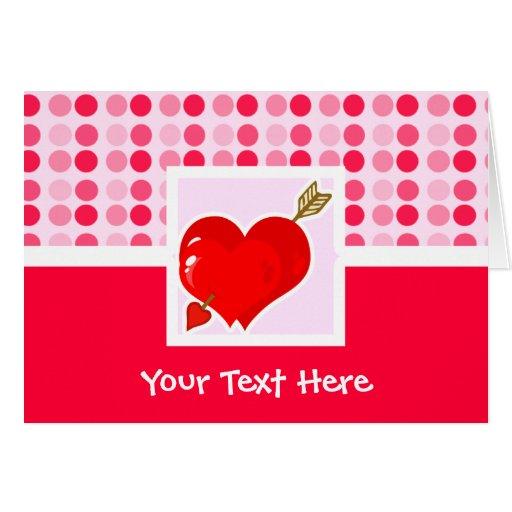 Corazón y flecha lindos del Cupid Tarjeta De Felicitación