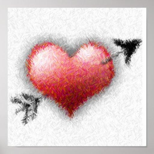 Corazón y flecha poster