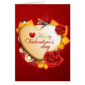 Corazón y flores de la tarjeta de las tarjetas del