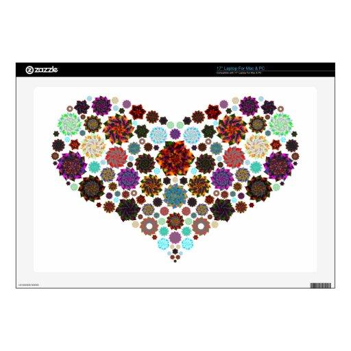 Corazón y flores grandes el | para usted portátil 43,2cm skins