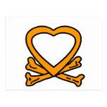 Corazón y huesos Brown los regalos de Zazzle del Postal