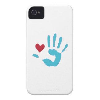 Corazón y mano iPhone 4 Case-Mate cobertura