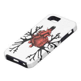 Corazón y pulmones iPhone 5 protector