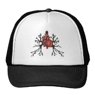 Corazón y pulmones gorras de camionero