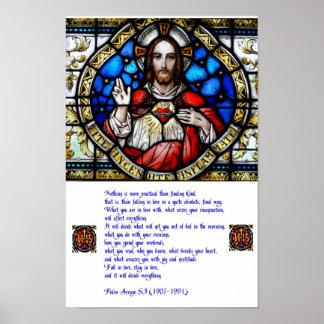 Corazón y rezo sagrados de Arrupe Posters