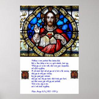 Corazón y rezo sagrados de Arrupe Póster