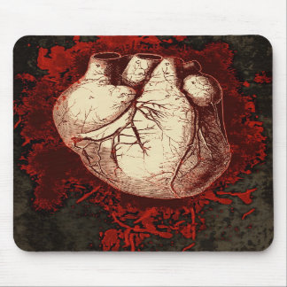 Corazón y salpicón tapete de raton