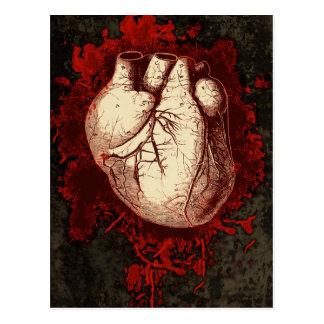 Corazón y salpicón tarjeta postal
