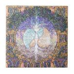Corazón, yin yang, árbol de la vida de Amelia Carr Azulejos