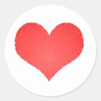 corazoncito pegatina redonda