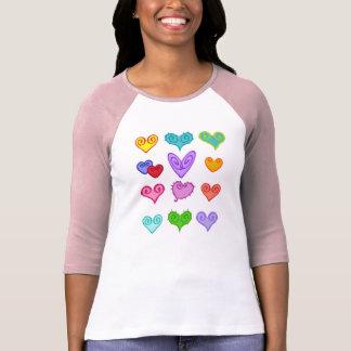 Corazones 2 de la tarjeta del día de San Valentín Camisetas