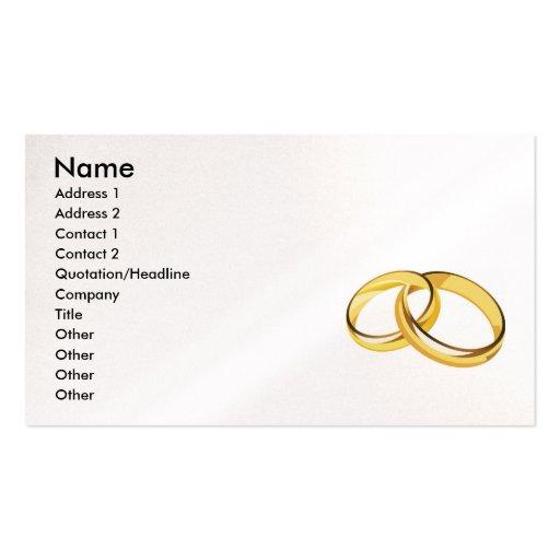 corazones (7), anillos de bodas tarjetas de visita