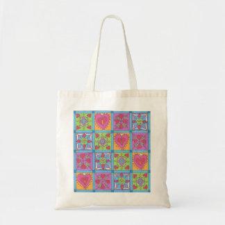 Corazones acolchados bolsas