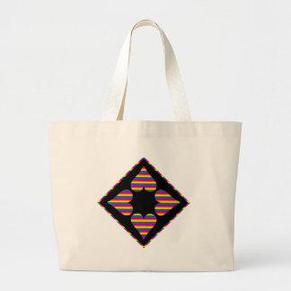 Corazones adaptables del arco iris (6) bolsa lienzo